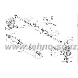 Поворотные корпуса и рулевой цилиндр моста CARRARO 26.27