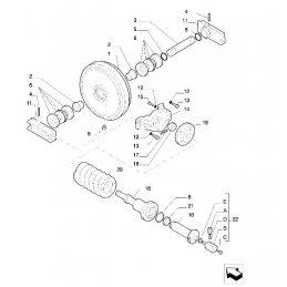 Устройство для затяжки шкивов (ленивец)