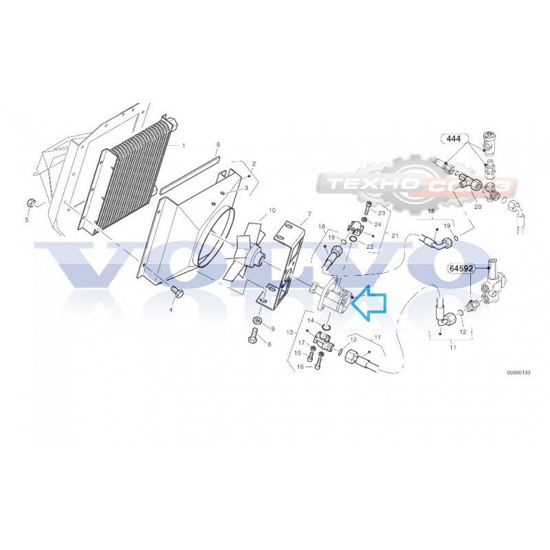 Мотор шестеренчатый VOLVO L30