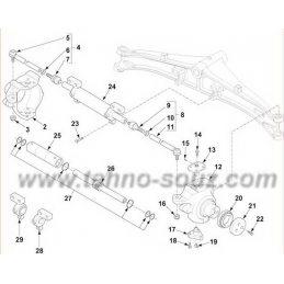 Поротный кулак TEREX TX760B правый