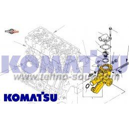 Помпа водяная Yanmar 4TNE106, 4D106