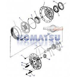 Корончатая шестерня KOMATSU WB93R-WB97R.