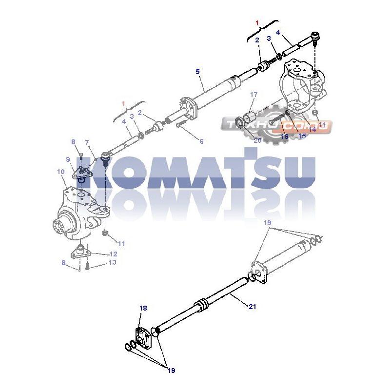 Рулевая тяга KOMATSU WB93R-WB97R