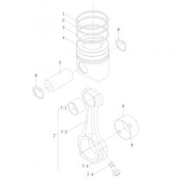 Кольца поршневые Weichai Diesel WD-615