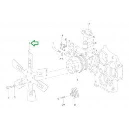 Вентилятор Weichai Diesel WD-615