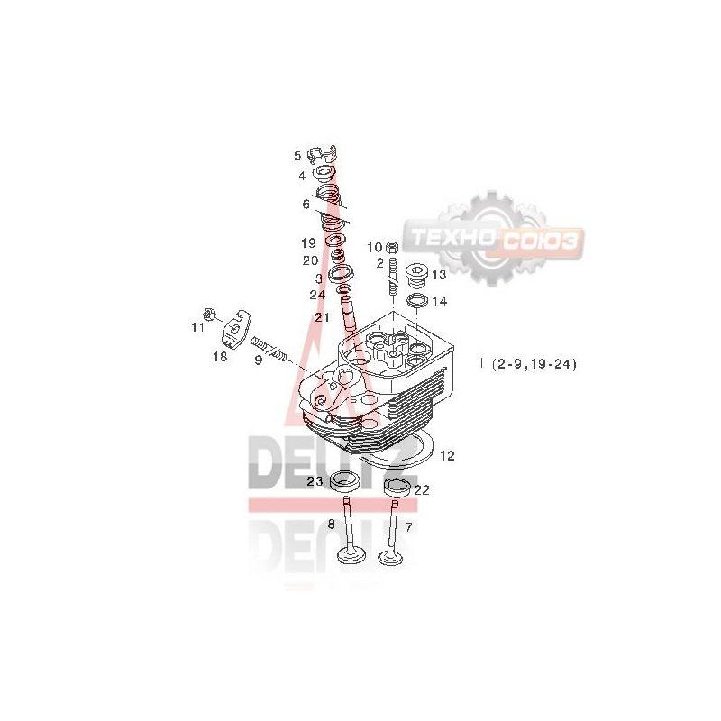 04258234 головка блока цилиндра DEUTZ BF 6M 1013