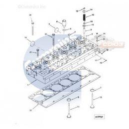 4004086 Головка блока цилиндров CUMMINS M11 / QSM / ISM 24V