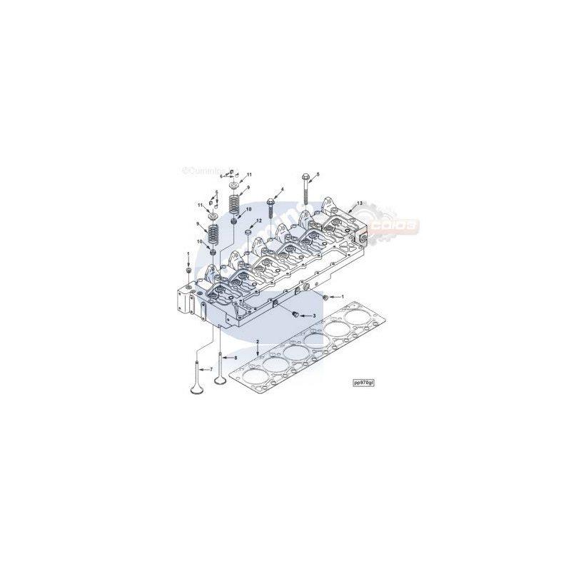 3967458 Головка блока цилиндров CUMMINS 6BT