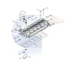 3943566 Головка блока цилиндров CUMMINS ISCE 8.3 6CYL. 24V
