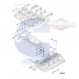 4941496 Головка блока цилиндра DEUTZ ISD 4.5