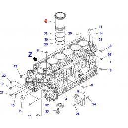 Гильза цилиндра KOMATSU WA470.